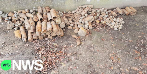 Rain uncovers bombs and grenades in the Ypres region