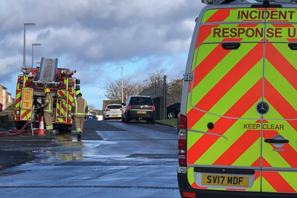 Bomb disposal experts were called to a Fife building site after white smoke started rising from the ground