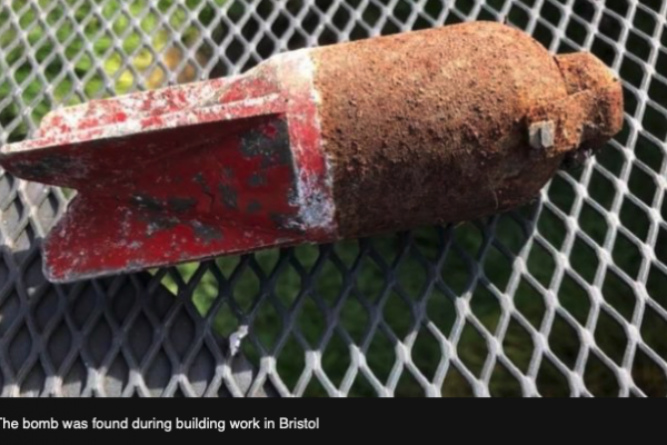 Bristol WWII bomb blown up on playing fields
