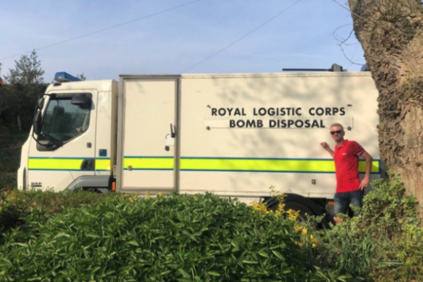 Norwich bar owner finds unexploded bomb in his garden