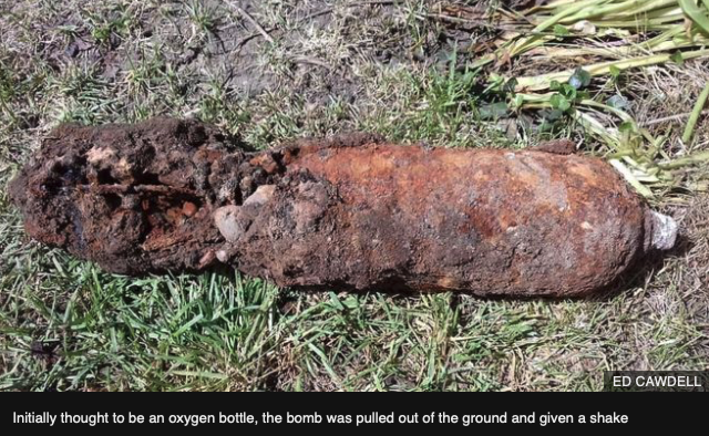 Bomb squad called as mortar shell found in Quorn garden.