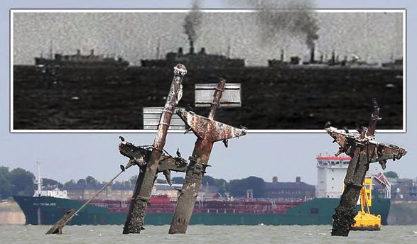 Mission to remove masts off WW2 shipwreck packed with tonnes of explosives