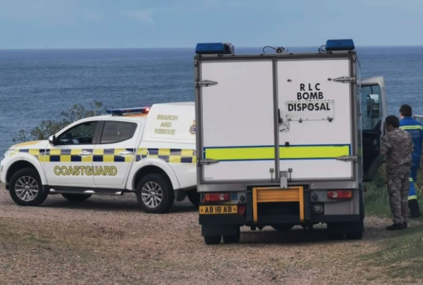 EOD team called to beach