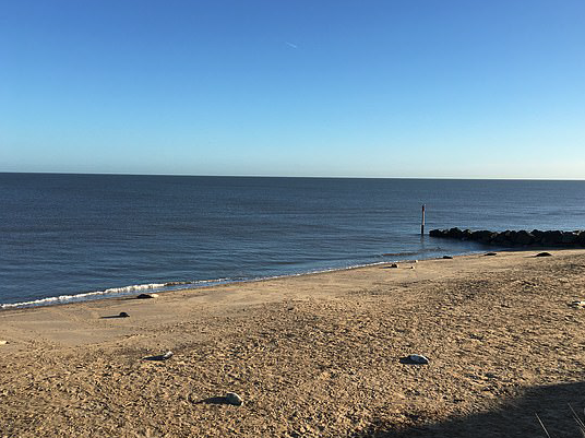 An Explosive Ordnance Disposal (EOD) team called to beach at Horsey Gap, Norfolk