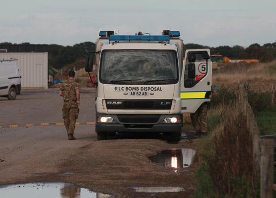 Unexploded Ordnance (UXO) found at wind farm near Howden, East Yorkshire