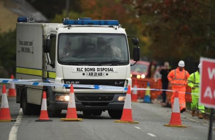 Workmen discover UXO in Histon Road, Cambridge
