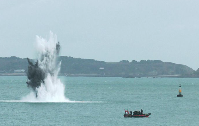 WW2 Unexploded Ordnance found in sea off Guernsey