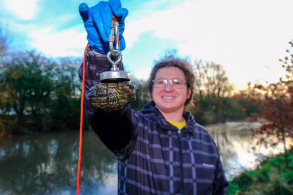 Magnet fisherman pulls 19 hand grenades from River Tame