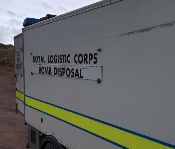 Unexploded ordnance (UXO) discovered on East Lothian beach