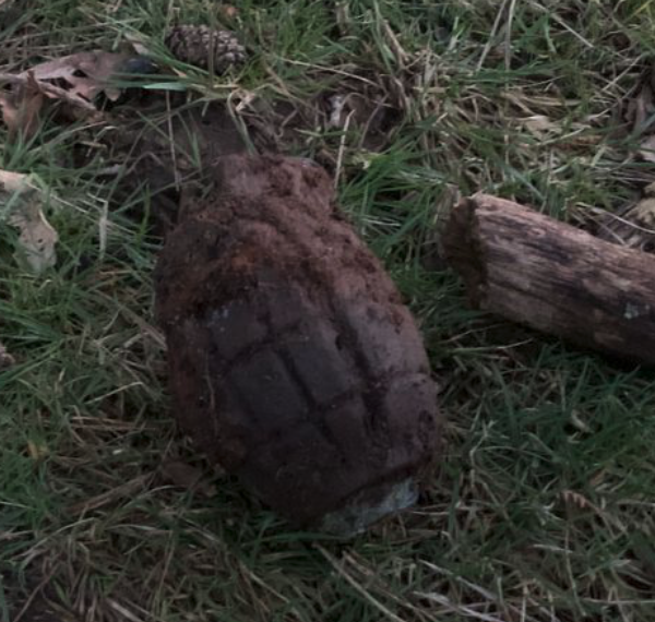 Devon walker finds unexploded ordnance (UXO)