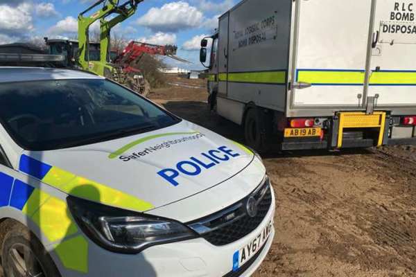 UXO discovered at Tuddenham farm, near Mildenhall