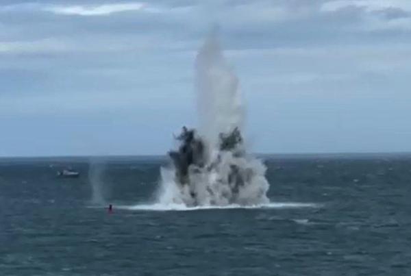 World War Two UXO detonated near St Peter Port harbour