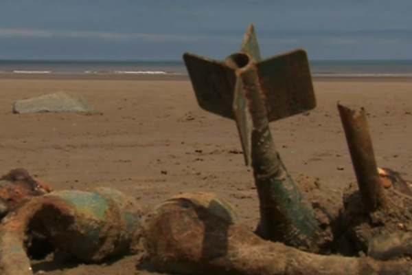 August 2020: Army blows up 1,000 bombs off East Yorkshire beach